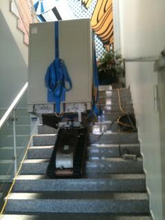 Treppentransport mit Treppenroboter